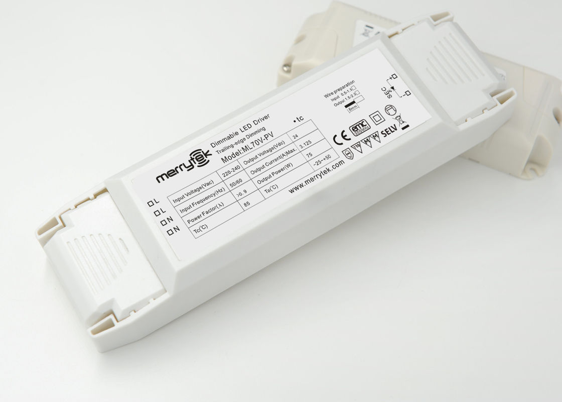 1 × 75W Push 1-10V Dimmable LED Driver , Constant Voltage PWM Dimming LED Driver